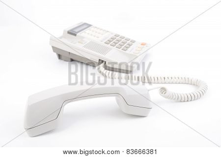 Old Telephone With Pick Up Receiver