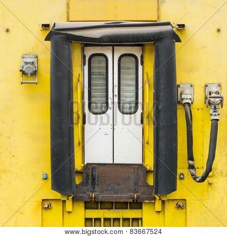 DAKAR, SENEGAL, AFRICA - JULY 20, 2014 - Old train, abandoned railway station