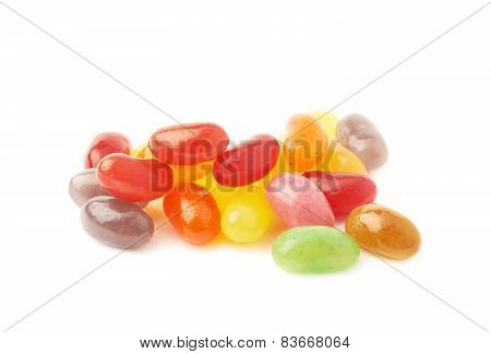 Pile of multiple jelly bean candies