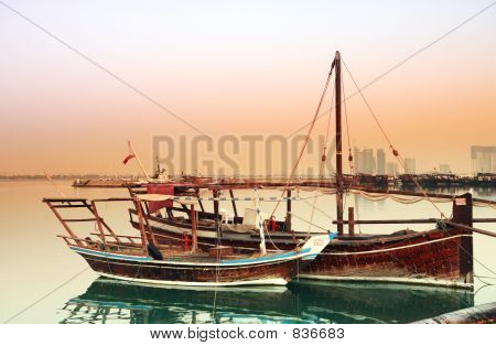 Dhows at dawn