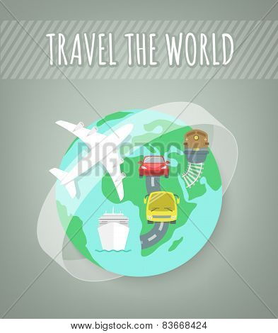 Travel Transport Concept