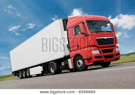 Camión de carga por carretera
