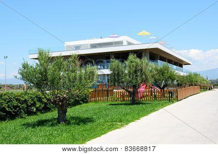 Building Of The Modern Luxury Hotel, Peloponnes, Greece