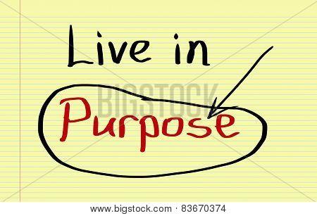 Live In Purpose Concept