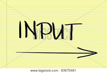Input Concept