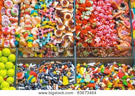 Colourful confectionary for sale
