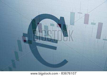 Euro sign. Financial concept.