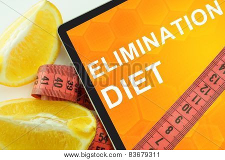 elimination diet on tablet.