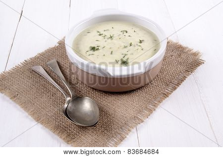 Broccoli Stilton Soup In A Bowl