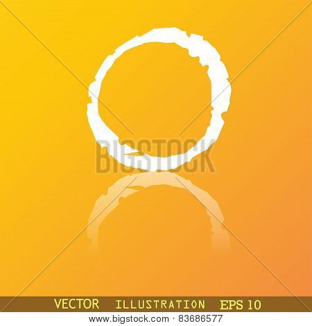 Number Zero Icon Symbol Flat Modern Web Design With Reflection And Space For Your Text. Vector