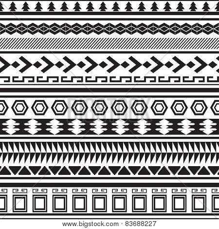 Tribal striped seamless pattern.