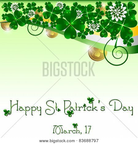 Holiday Card On St. Patrick's Day. March 17 - Day Of Good Luck