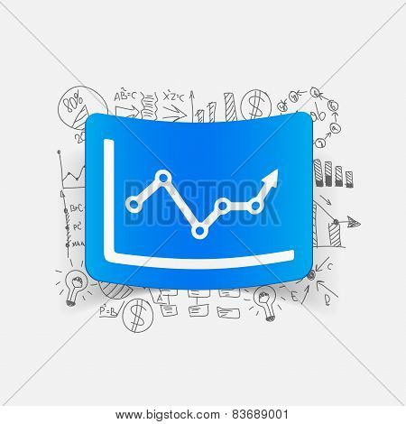 Drawing business formulas. chart