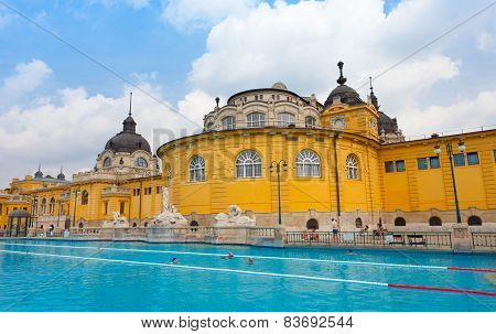 Szechenyi Thermal Baths In Budapest.