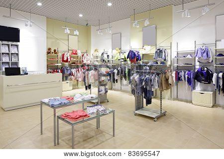 Brand New Interior Of Kids Cloth Store