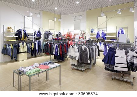 Brand New Interior Of Kids Cloth Store