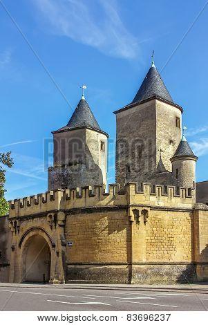 The Germans Gate In Metz,france.
