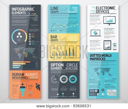 Infographic templates and business graphics