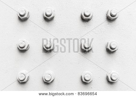 Abstract Industrial Background, Bolts And Nuts