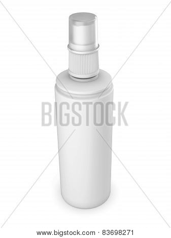 White Tube Isolated On A White Background