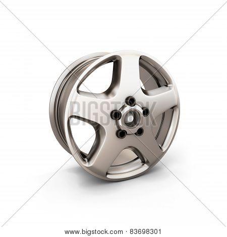 Alloy Wheel Rim On A White Background
