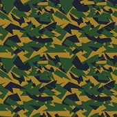 picture of camoflage  - Seamless military camouflage texture - JPG