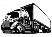 stock photo of big-rig  - Cartoon semi truck - JPG