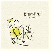 picture of rakshabandhan  - Beautiful greeting card design for the Indian festival Raksha Bandhan in pencil drawing style - JPG
