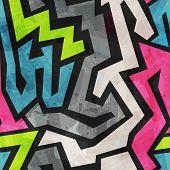 stock photo of graffiti  - grunge graffiti seamless pattern  - JPG