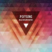 picture of future  - Abstract future vector background with triangle shapes - JPG