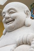 foto of budha  - Smiling Big Buddha Statue isolated With clipping path - JPG