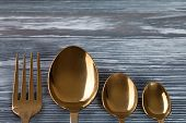 stock photo of scrape  - Tableware set  - JPG