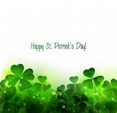 picture of saint patrick  - Vector Happy Saint Patricks Day Background with clover - JPG