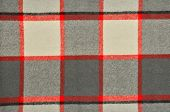 picture of tartan plaid  - Red and grey wool plaid print as background - JPG