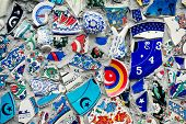 picture of tile  - Mosaic of broken tiles wall in Istanbul wall made of colorful mosaic broken tiles Turkey Turkey