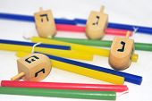 image of hanukkah  - Photo of a dreidels  - JPG
