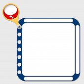 image of bubble sheet  - perforated frame for any text and speech bubble - JPG