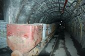 picture of mines  - The coal mine underground tunnels - JPG