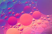 image of psychedelic  - Psychedelic oil and water abstract in purple - JPG