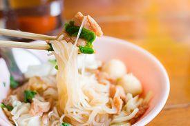 foto of noodles  - noodle of thai food style  - JPG