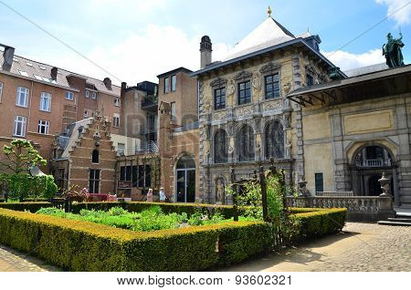 Antwerp, Belgium - May 10, 2015: Tourist Visit Rubenshuis (rubens House) In Antwerp.