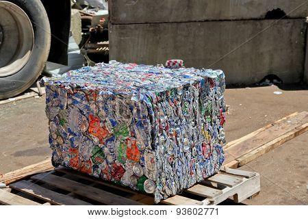 Aluminum Can Cube