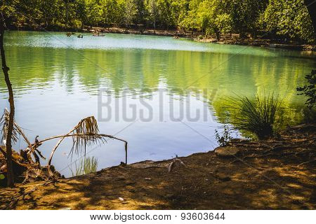 landscape with forests and natural lake in Valencia, Spain