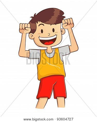Boy With Strong Healthy Body