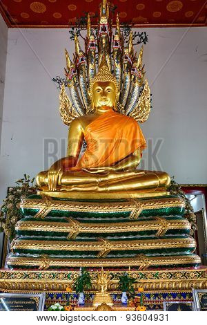 Buddha Statue in Wat Pho (Pho Temple) in Bangkok, Thailand