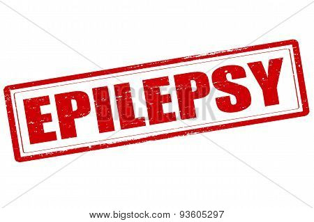 Rubber stamp with word epilepsy inside vector illustration