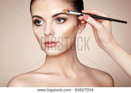 Makeup Artist Applies Skintone