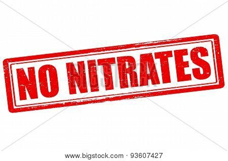 Rubber stamp with text no nitrates inside vector illustration