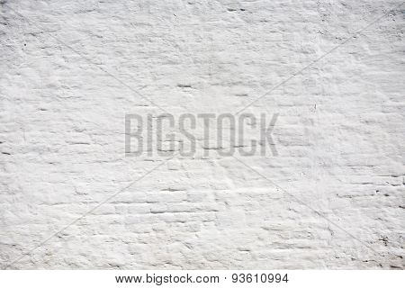 The texture of white brick wall