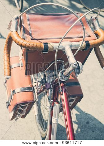 Vintage Touring Bicycle With front Bags